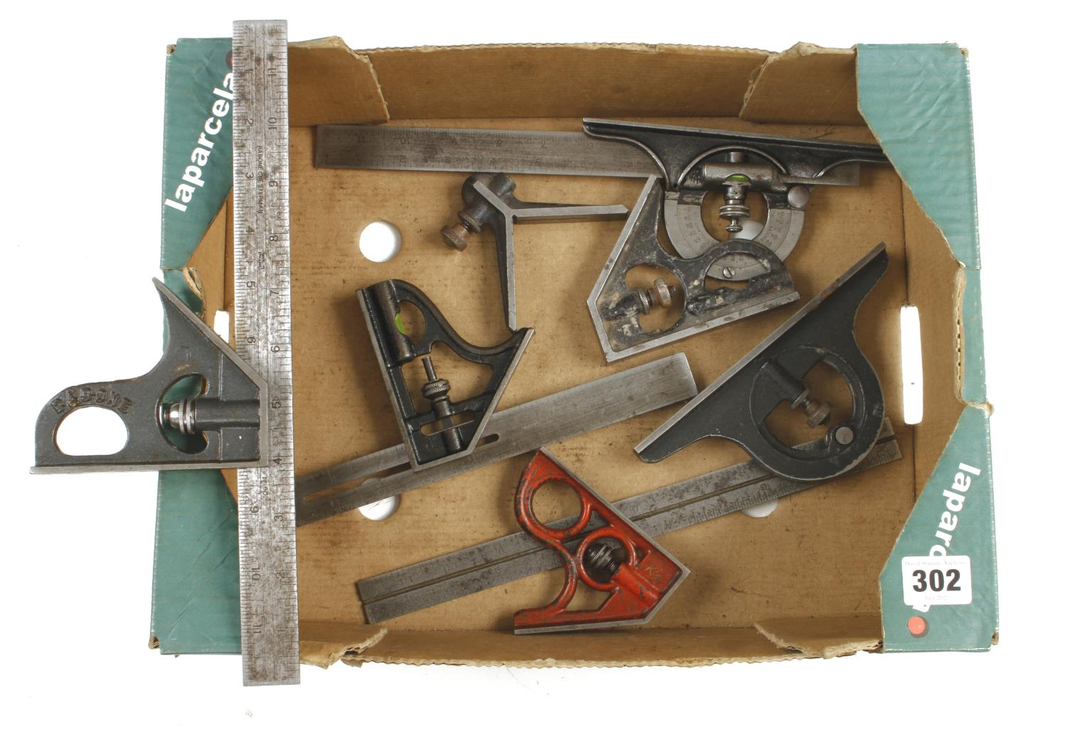 Various engineer's squares for spares G-