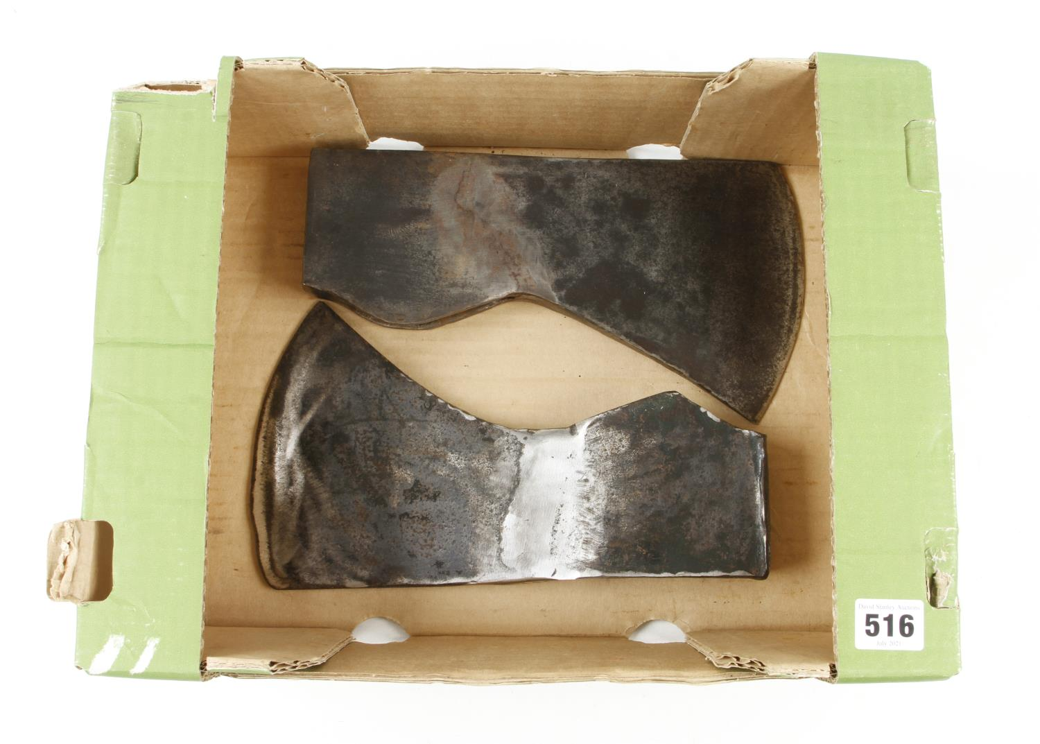Two axe heads with good welded repair G - Image 3 of 3