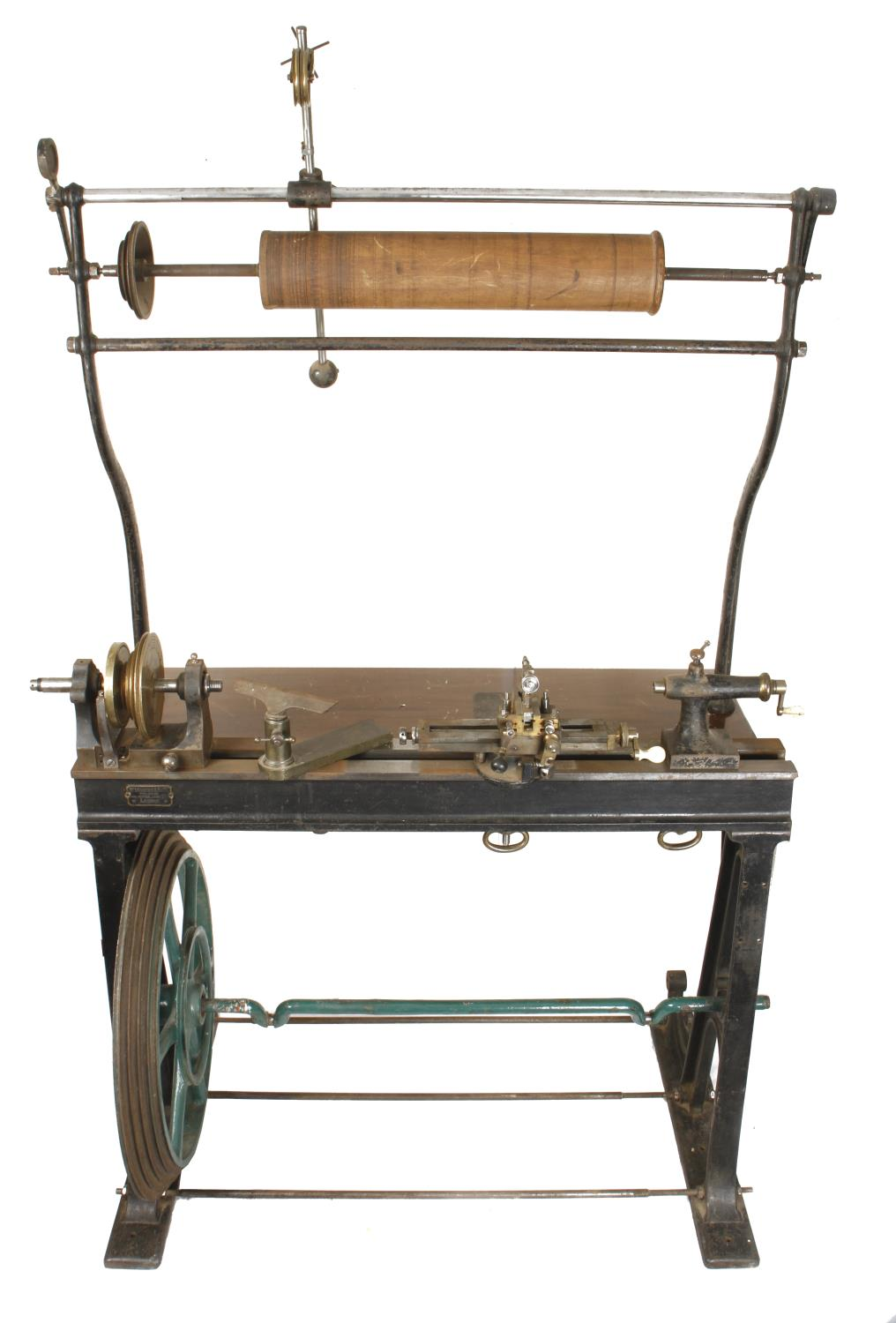 """An ornamental turning treadle lathe by MELHUISH London with overhead gear and 48"""" bed complete - Image 2 of 11"""