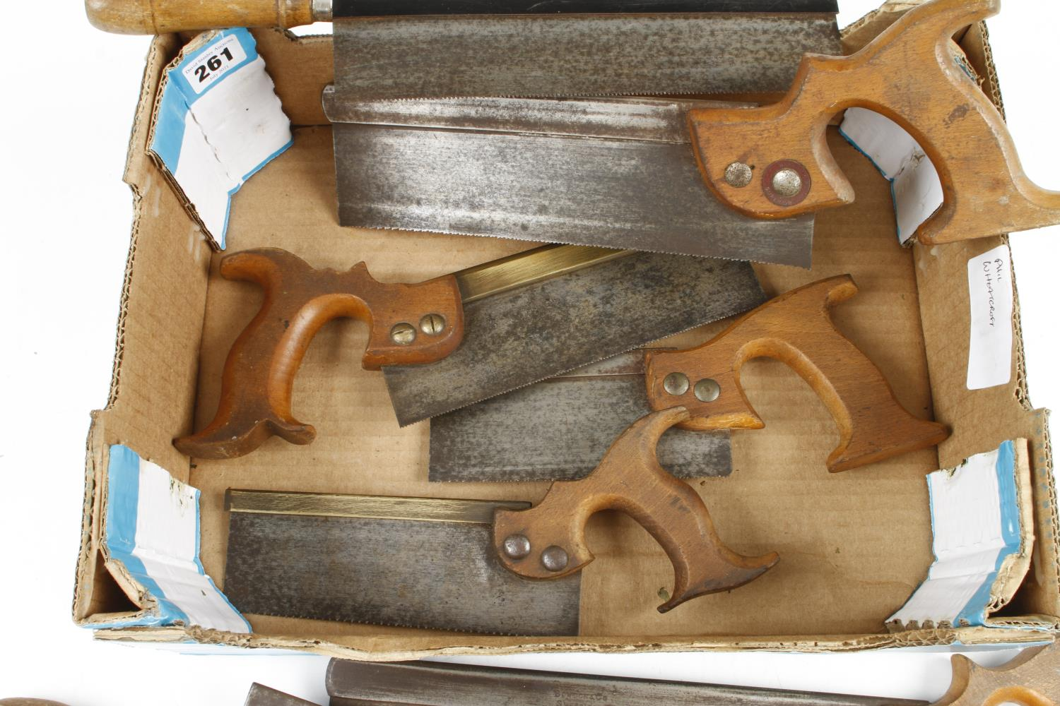 Four s/b tenon saws and 4 small d/t saws G - Image 2 of 2