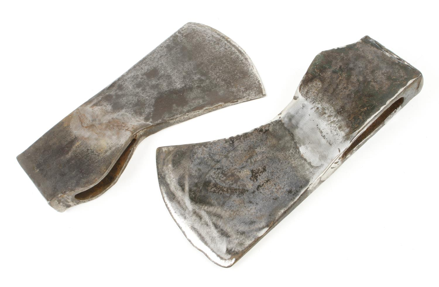 Two axe heads with good welded repair G - Image 2 of 3