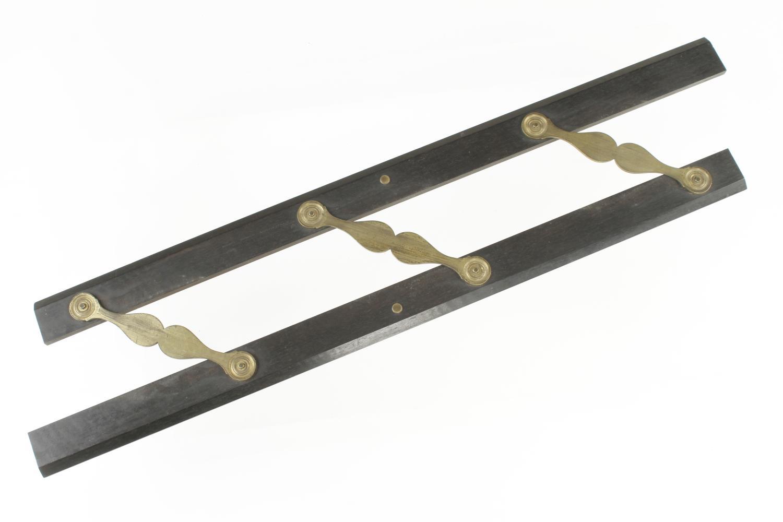 "A 24"" ebony and brass parallel rule by ELLIOTT Strand London F - Image 2 of 3"
