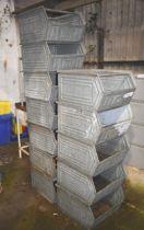 Quantity of Lager Fix galvanised storage bins
