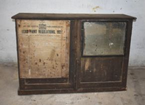 A wooden cupboard with shelves