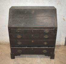 An antique oak desk