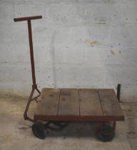 A four wheel platform trolley