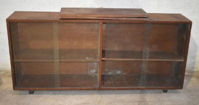 A glazed cupboard for restoration