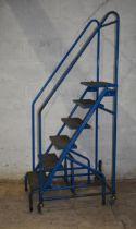 A mobile step ladder