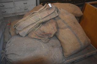 A pallet of hessian sacks