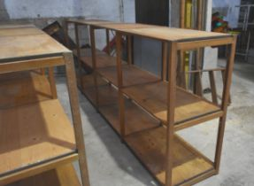 A 4 bay Remploy Lundia shelving unit