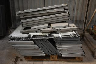 A quantity of Dexion Boltless shelving on two pallets