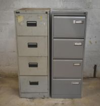 Two four drawer filing cabinets