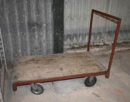 A four wheel factory trolley
