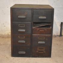 A vintage oak chest of drawers for restoration