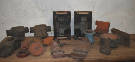 Quantity of foundry patterns for lathe parts ex Harrison Lathe factory