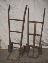 Twi vintage iron sack barrows