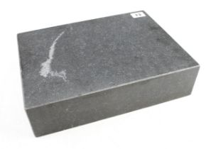 """An engineers granite surface plate 12"""" x 9"""" x 3"""" high with test certificate N"""