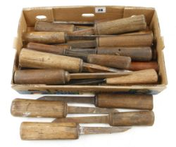 21 mortice chisels G