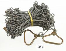 A surveyor's chain by CHESTERMAN with brass tallies marked 1 chain G+