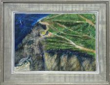 Jeremy LE GRICE (1936-2012)Porthtowan PathsOil on board Signed, inscribed and dated 1990 to verso