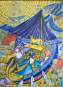 Rosemary ZIAR (1919-2003)Ancient Egypt Watercolour Signed 75.5 x 55.5cm