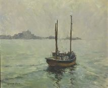 Michael STONE Off St. Clements Oil on Canvas Signed 30 x 35cm