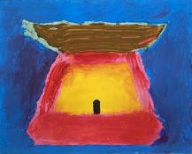 Trevor BELL (1930-2017)Small Shrine Mixed media on paper Signed and dated 1988, twiceFurther signed,