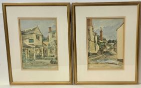 Michael STONE 'Xmas Lights, Mousehole' Pastel and other Cornish works