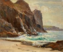 Garstin COX (1892-1933)Kynance Cove Oil on board Signed 25 x 30cmCondition report: Frame size - 28 x