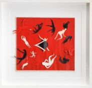 Terry FROST (1915-2003)Dancing Figures Mixed media and collage 44 x 48cmCreated for and donated to