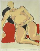 John EMANUEL (1930) Seated Nude Lithograph Signed, inscribed, dated '83 and numbered from an edition