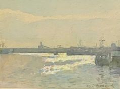 Ken HOWARD R. A Newlyn Harbour Watercolour Signed, label to verso 18 x 23cm View the Virtual 360