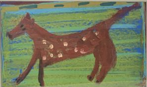 Louise MCCLARY (1958) The Spotty Dog Oil on board Signed 23 x 39cm