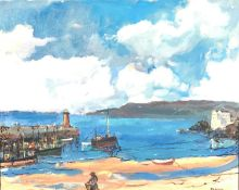 John Rankine BARCLAY (1884-1962)The Ebbing Tide, St Ives HarbourOil on canvasSigned 40 x 50cm View