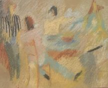 Rose HILTON (1931-2019) Dinner Party Pastel Signed, inscribed and dated 2007 to verso 40 x 50cm View