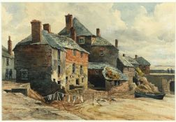 St Ives School Bromley's Foresand, St Ives HarbourWatercolour21.5 x 32cm Condition report: This