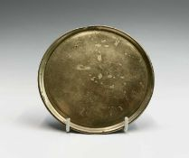 A Chinese bronze incense tray, the base cast with a six-character xuande mark surrounded by two