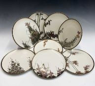 A set of eight Japanese Satsuma porcelain plates, 20th century, 23.5cmCondition report: no condition