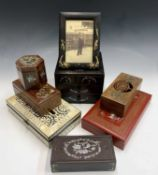 Miscellanous Chinese and Japanese hardwood and mother of pearl boxes etc.