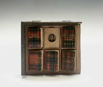 A set of miniature books by David Bryce & Son of Glasgow the Mite Series in Tartan with five