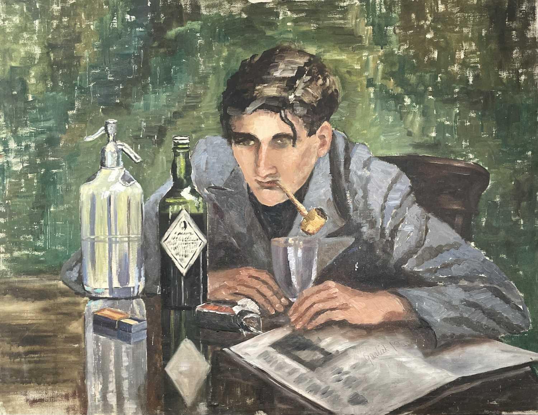 Garlick BARNES (1891-1987)Long NightOil on canvas Signed71 x 91cm Garlick Barnes 1891-1987 Garlick