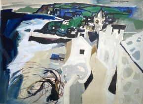 Tony GILES (1925-1994)Porthleven (1980)Mixed media Signed, inscribed and dated 54 x 74cmCondition