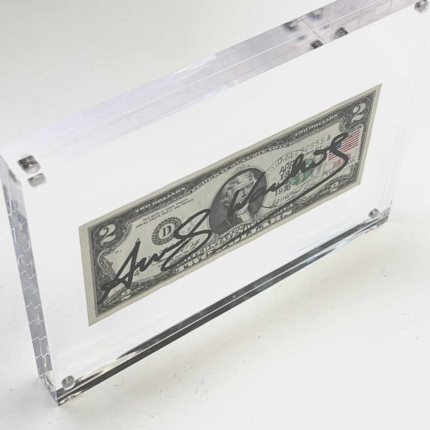After Andy Warhol, a two-dollar banknote, bears signature, together with accompanying paperwork. - Image 7 of 10