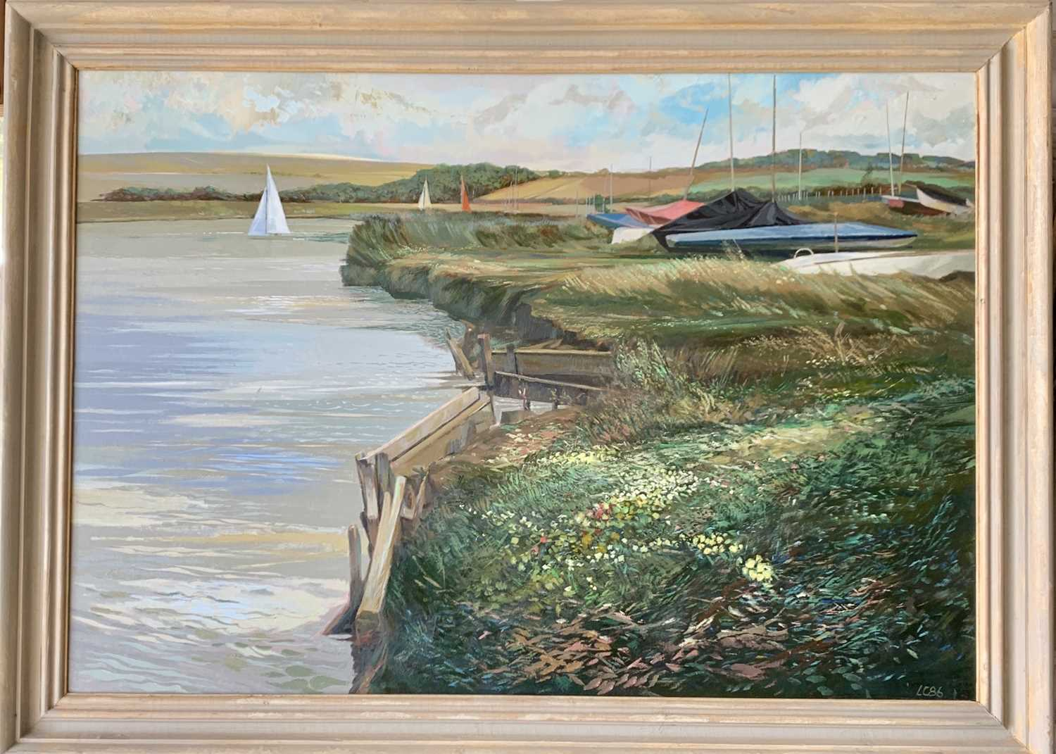 Les COLDRICK The Slipway Oil on board Signed and dated '86 70x91cm Together with Les COLDRICK - Image 4 of 5