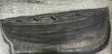 Jeremy LE GRICE (1936-2012)Hull Oil on board Signed, inscribed and dated 1999 to verso 61 x 122cm