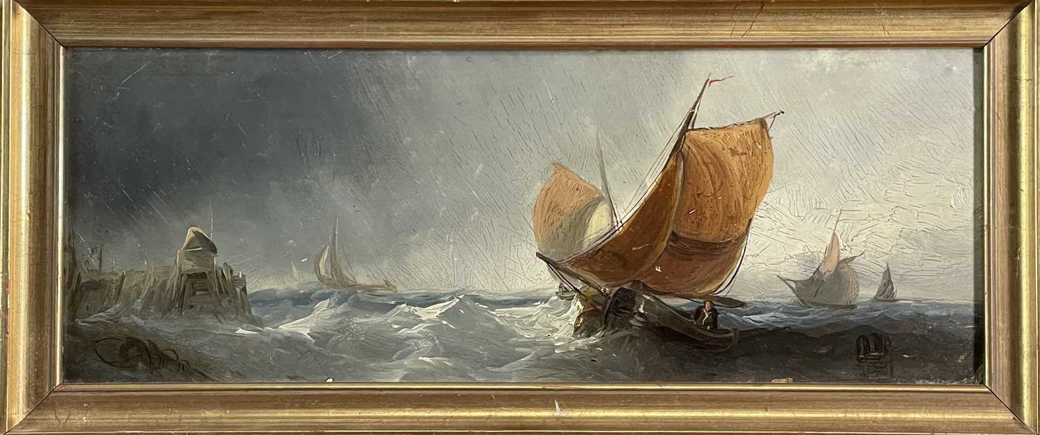Charles TAYLOR (act.1836-1871) A Hulk Adrift Watercolour Signed 21.5x48cm Together with a small - Image 8 of 12