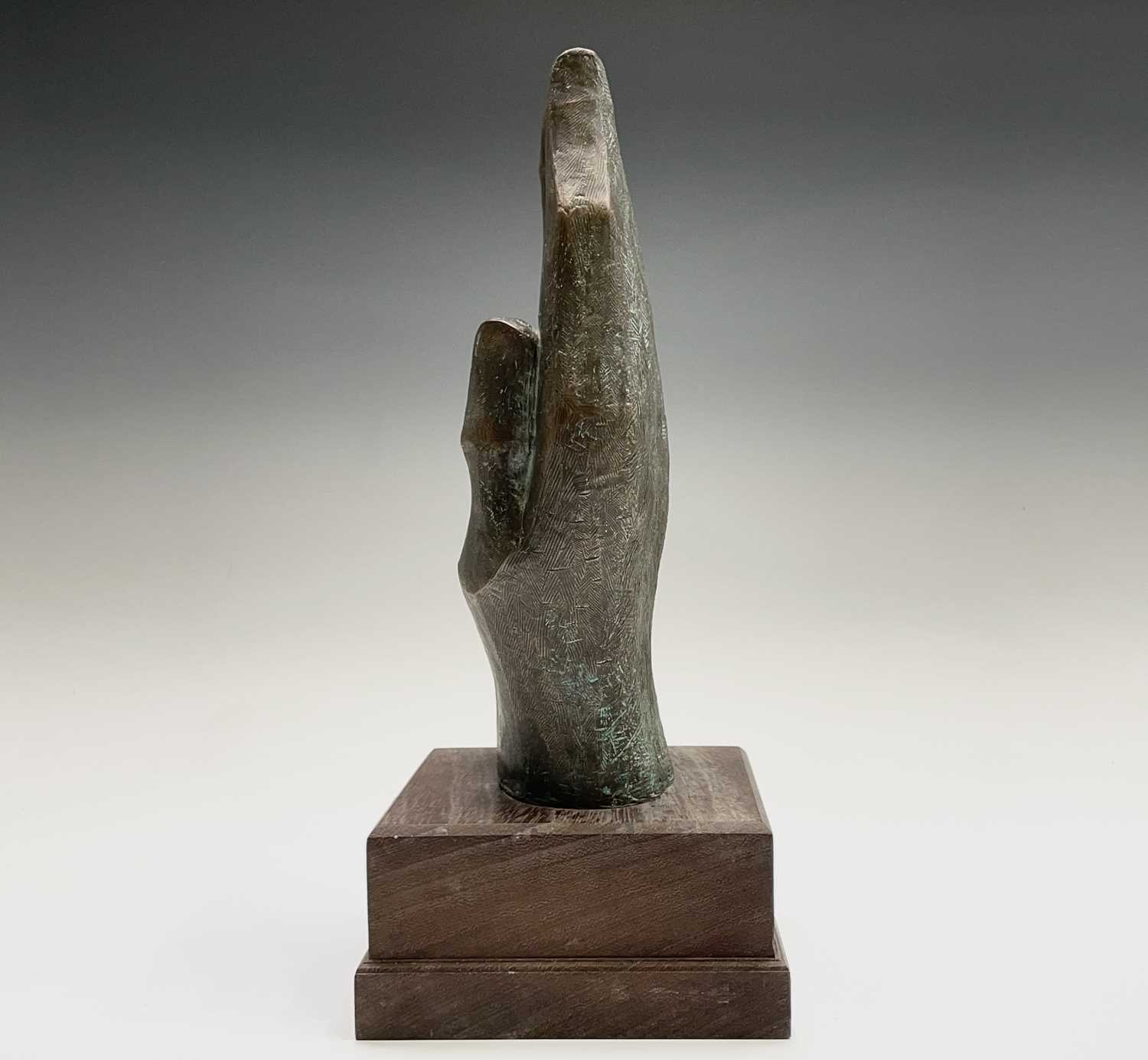 Alec WILES (1924)Hands Cold cast bronze sculpture Signed Height 34cm including wooden base - Image 6 of 9
