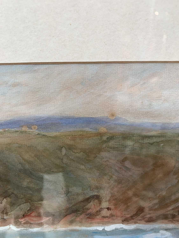 Lilian BLAND (1878-1971) (Aviator)Sennen SeascapeWatercolour/gouache28x43cmNews article to verso - Image 7 of 7