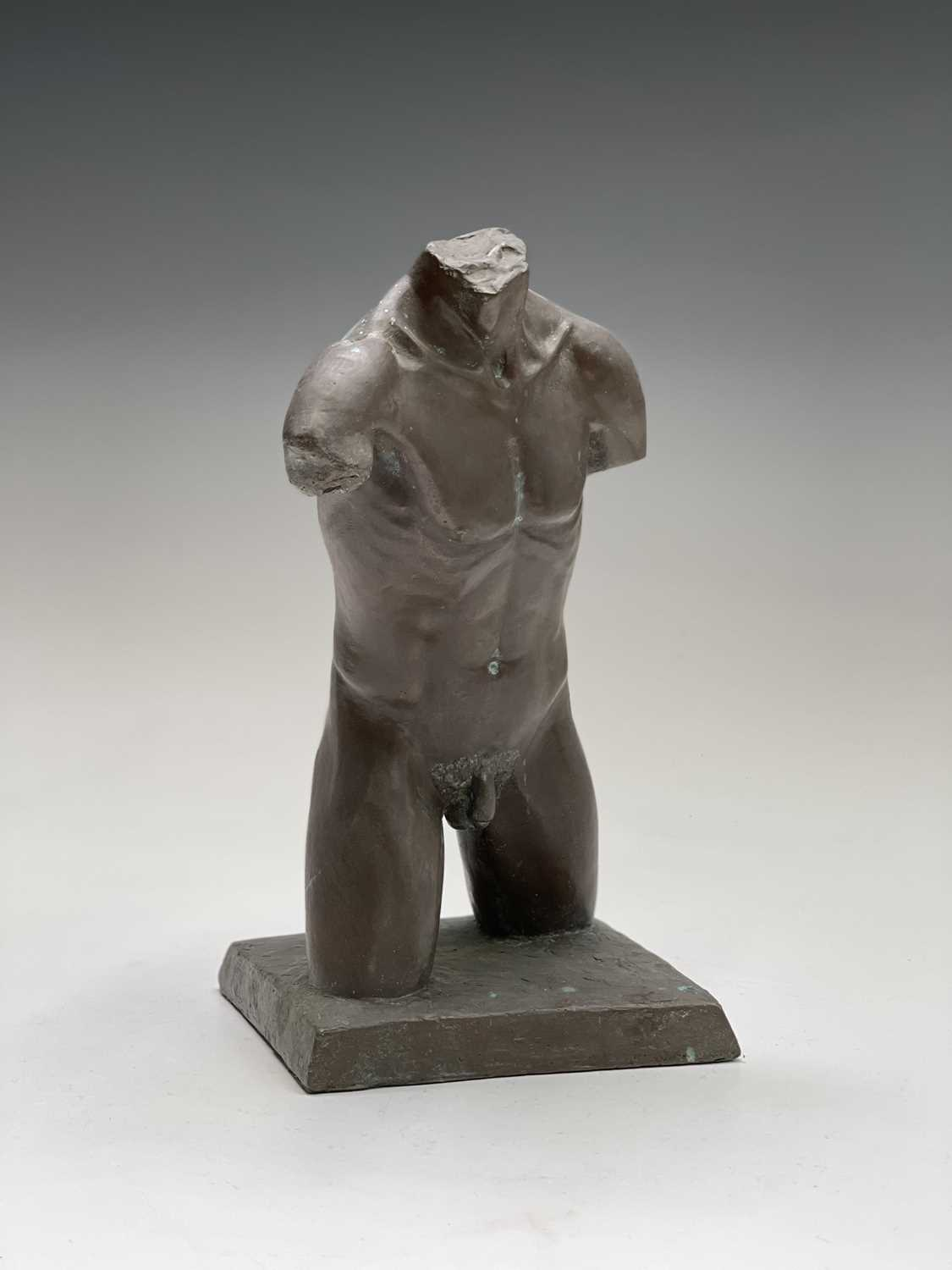 Alec WILES (1924)Males Torso Bronzed resin sculpture Signed and dated 1995Height 27cm