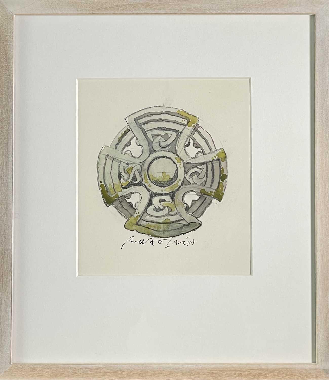 Paul HOGARTH (1917-2001)Celtic Cross, St Protus & Hyacinth - Blisland, Cornwall Watercolour Signed - Image 3 of 3